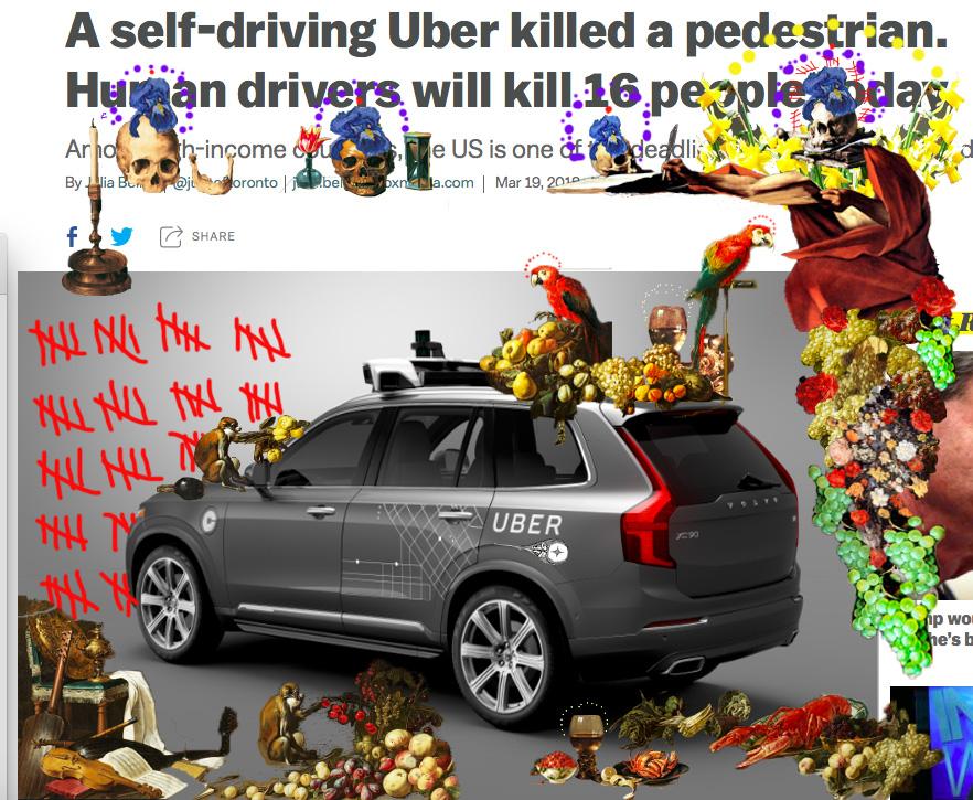 Bacco Artolini arte Uber crash America incidente