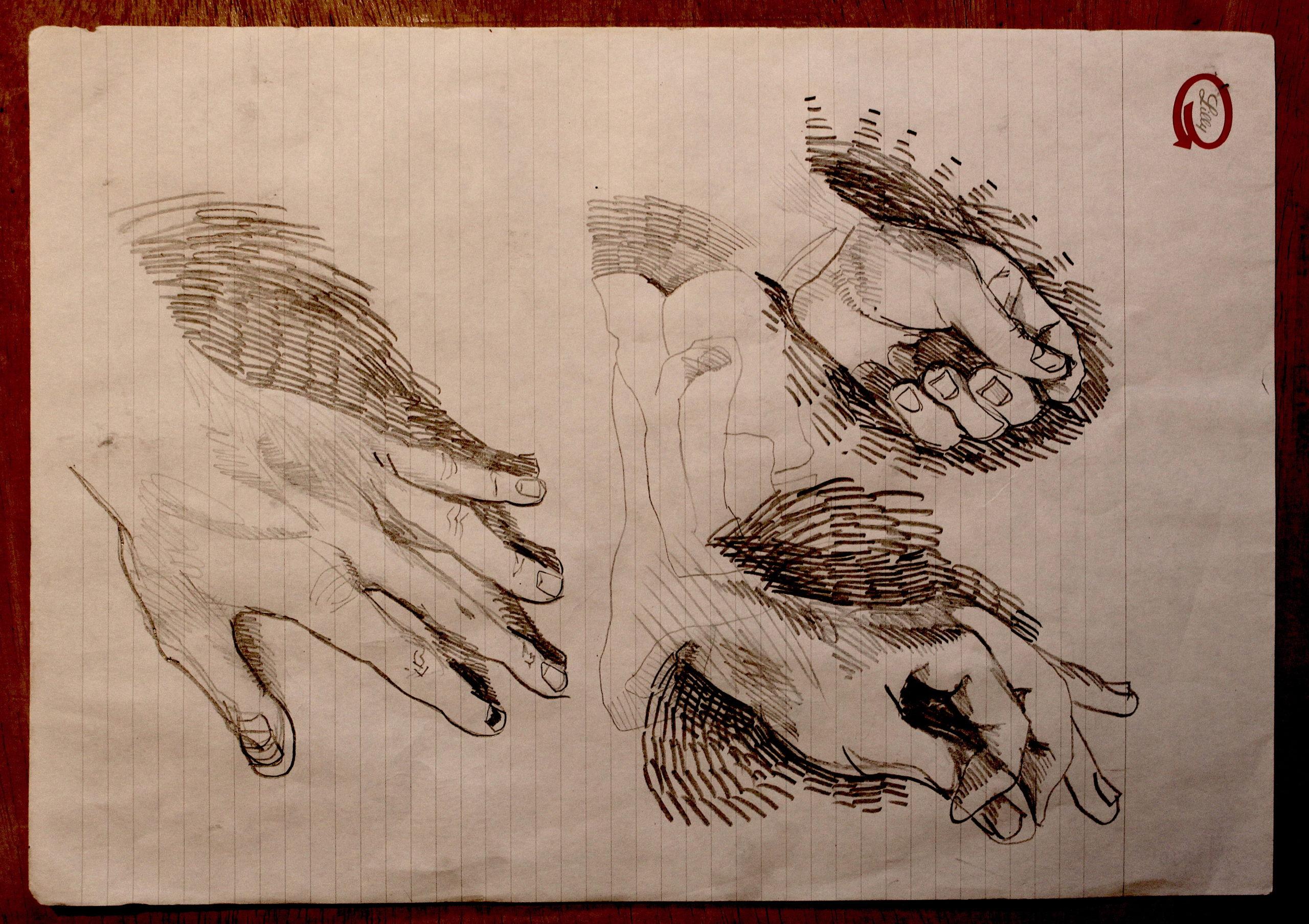 sketch studio 2 Bacco Artolini artist Ravenna