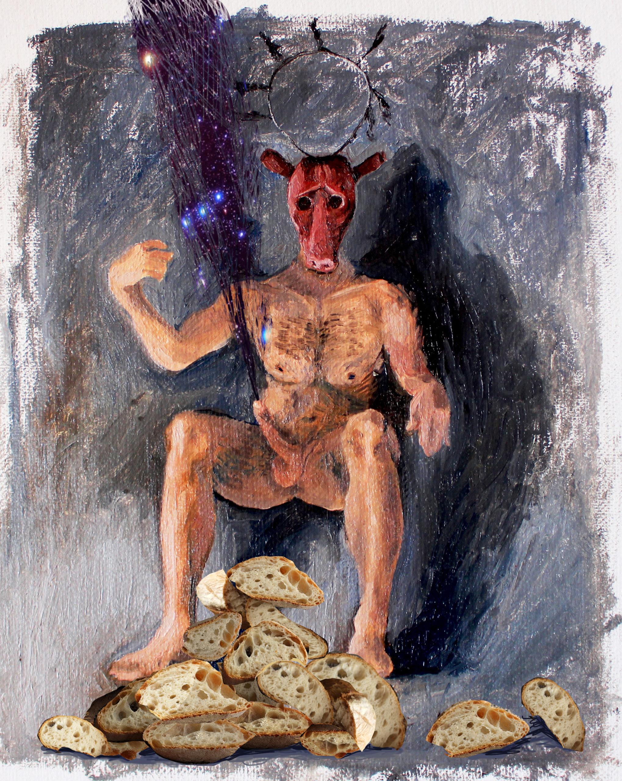 digital intervention Bacco Artolini painting universe