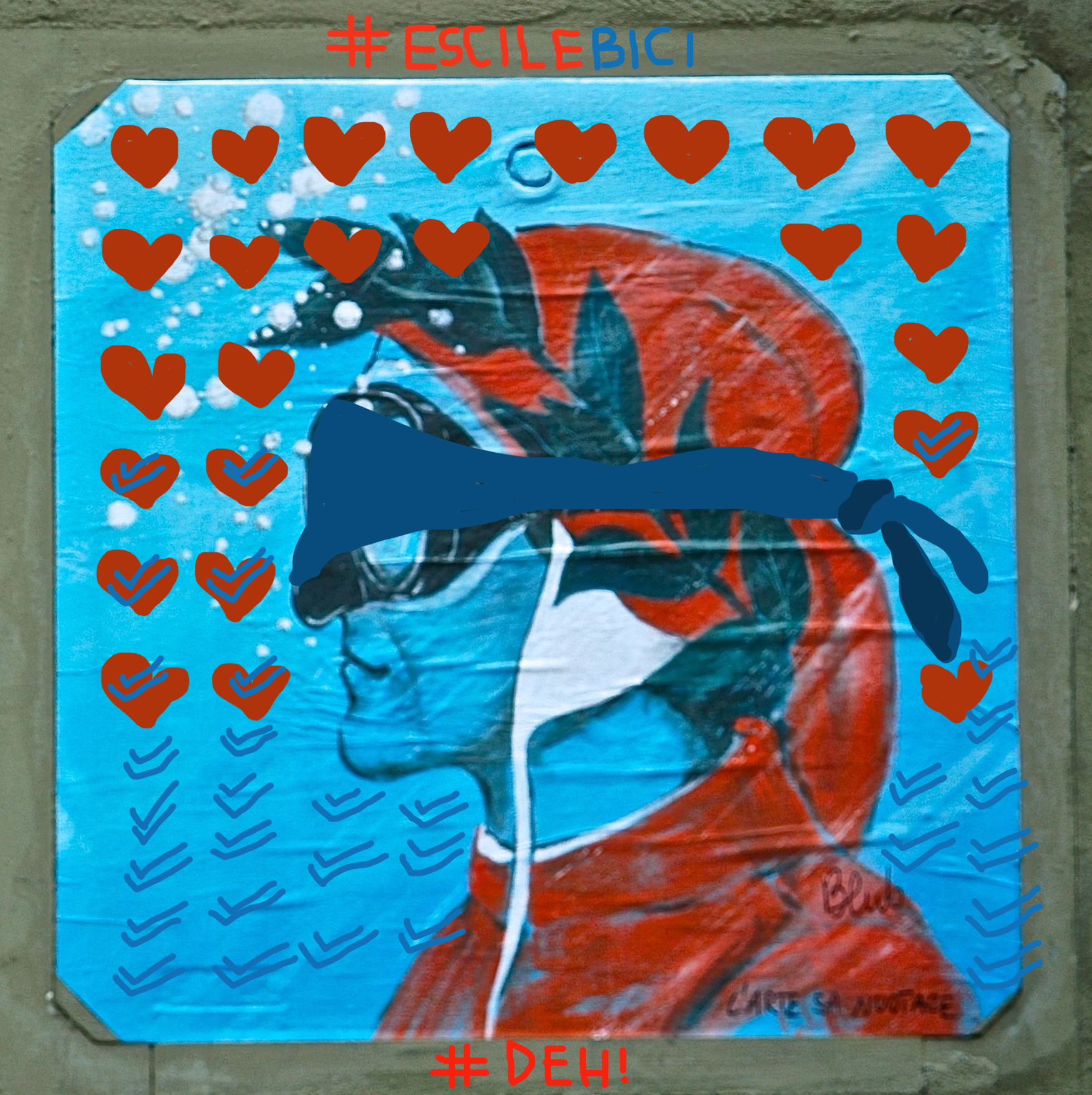 intervention Bacco Artolini Ravenna Blub Street art